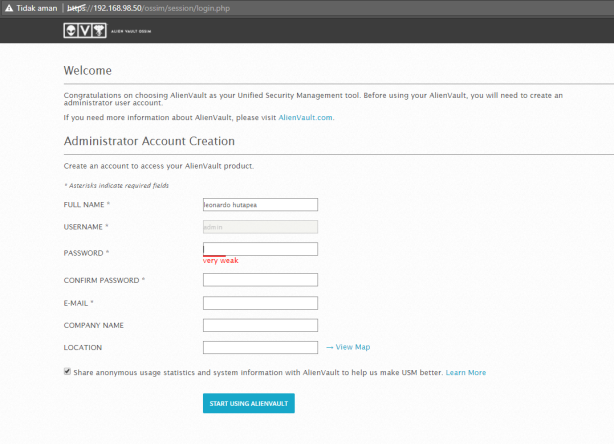 OSSIM AlienVault Basic Installation and Configure | konquerouter